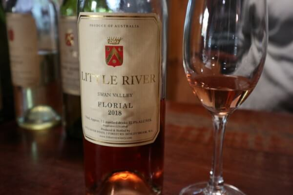 glass-and-bottle-of-florial-rose-at-little-river-winery-swan-valley