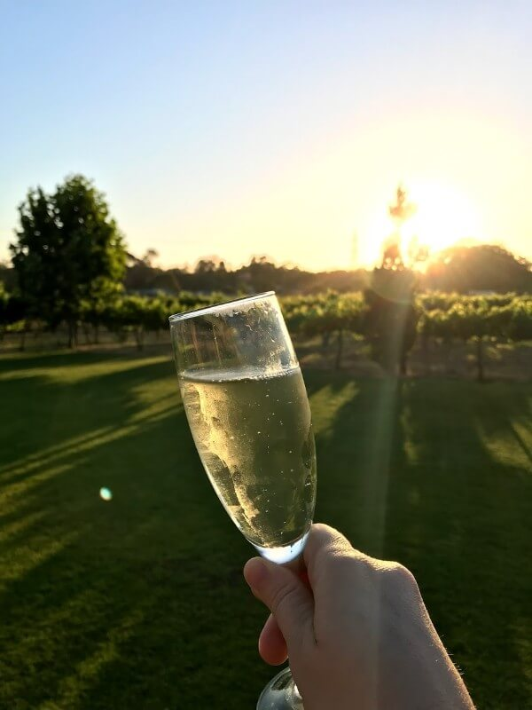 holding-a-glass-of-sparkling-wine-in-front-of-winery-at-pinelli-estate-winery-restaurant