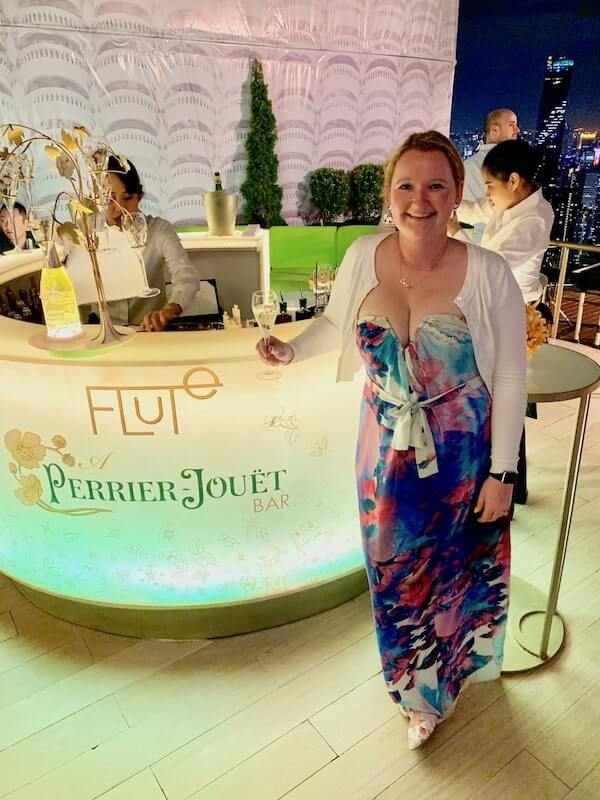Casey at Flute A Perrier Jouet Champagne Bar Bangkok