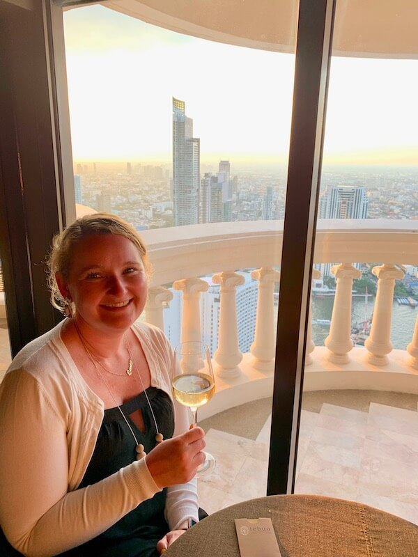 Casey at the Tower Club Lounge at Lebua