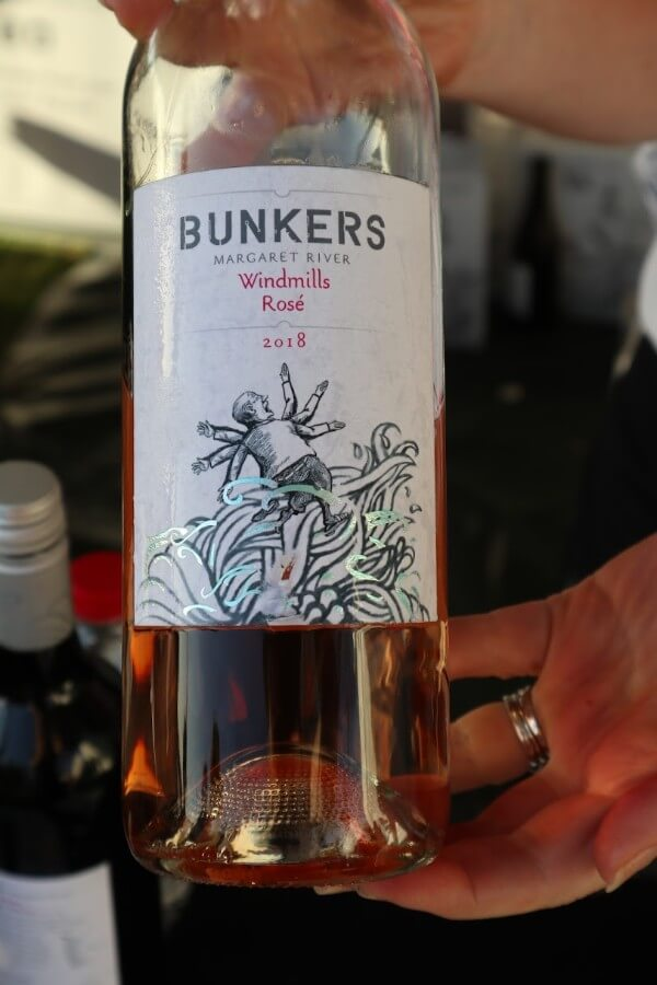 bottle of bunkers margaret river windmills rose