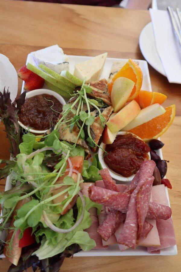 food platter at st aidan winery