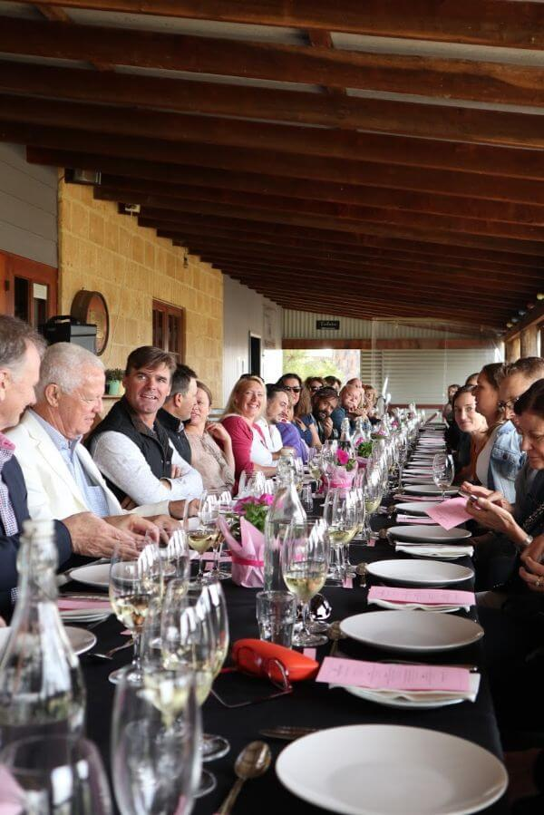 full table at the galafrey wines long table lunch