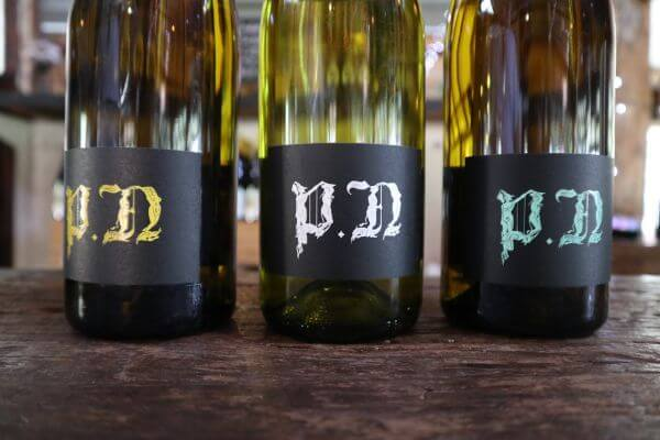 new wine bottles and labels at paul nelson vineyard on scotsdale road denmark wine region