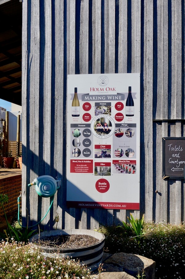 Making Wine Poster at Holm Oak in the Tamar Valley - Tasmania Winery