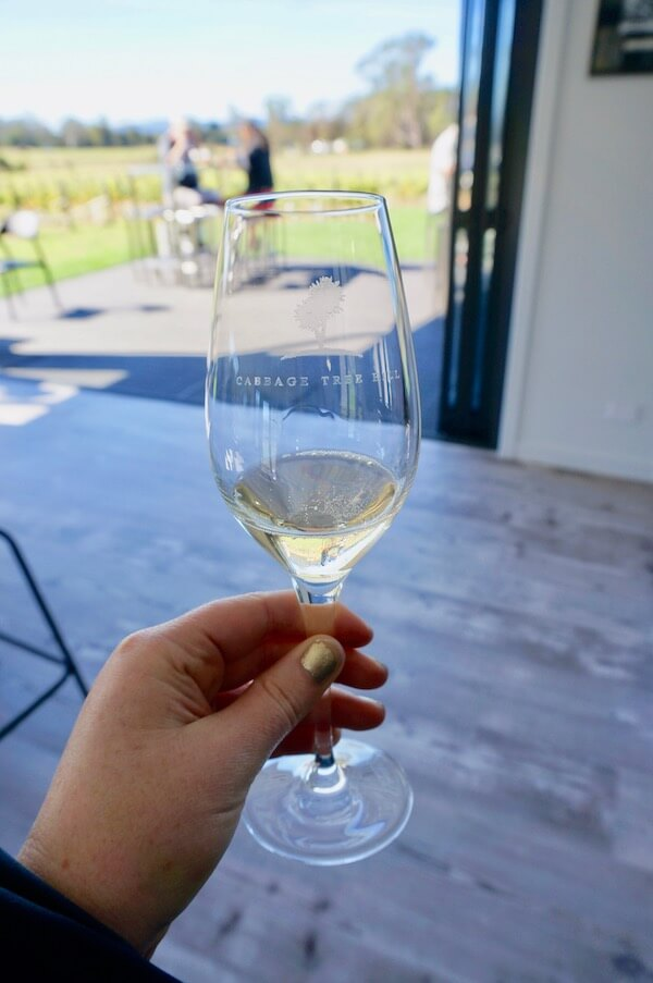 Wine tasting at Cabbage Tree Wines - Tamar Valley, Tasmania