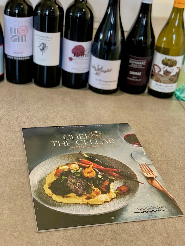 Chef and the cellar - Wine Selectors 2020 wine and food calendar case
