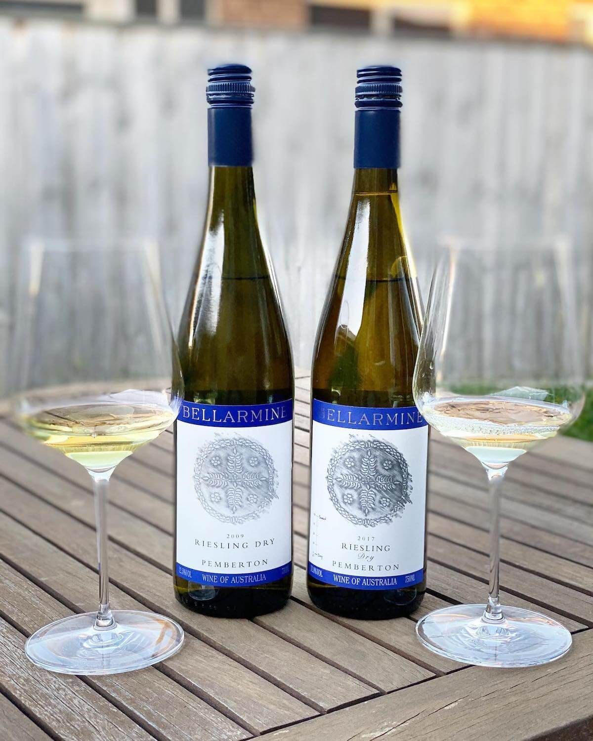 Bellarmine Dry Riesling 2009 and 2017