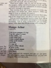 Stephanie's Indian Cookbook, making pickles