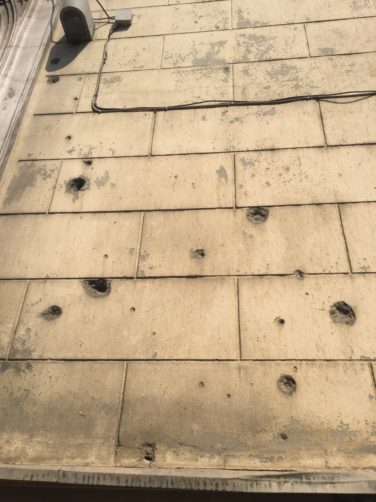 sarajevo bullet holes