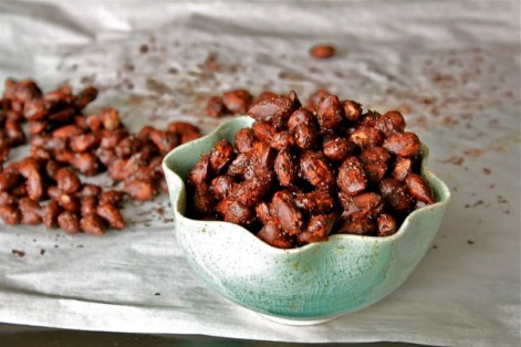 Salty Cocoa and Expresso Roasted Almonds