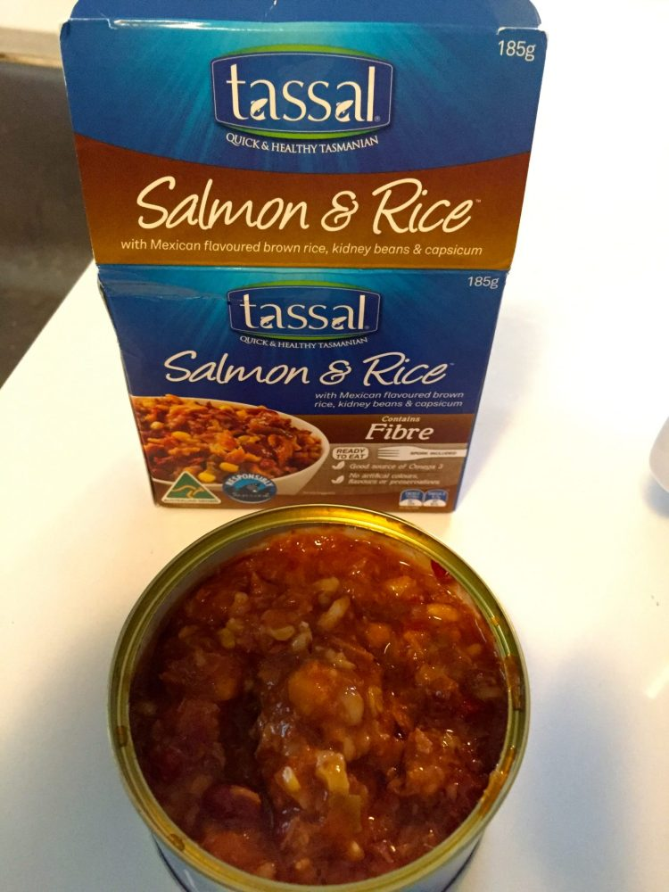 tassal salmon - salmon and rice