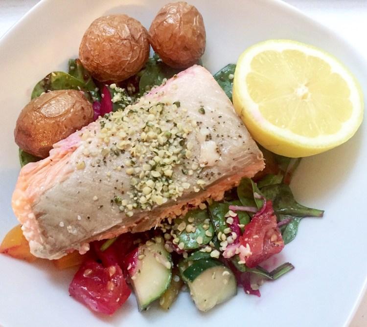 low calorie salad lunch kara landau travelling dietitian