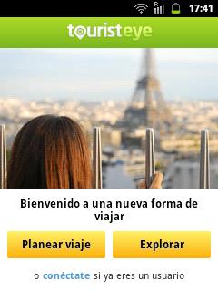 Análisis de la aplicación para Android de Tourist Eye