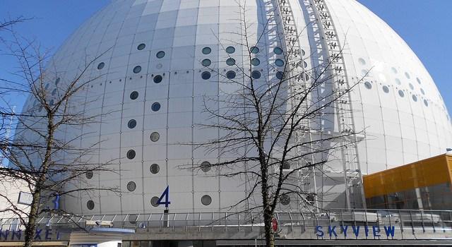 Globen Arena, Estocolmo desde el cielo