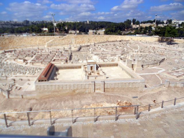 Maqueta Jersualén hace 2000 años Museo Israel, Jerusalén