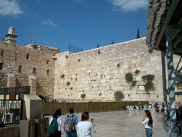 Muro de las Lamentaciones de día,  Jerusalén