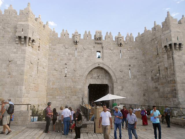 Puerta de Damasco, Ciudad Vieja Jerusalén.
