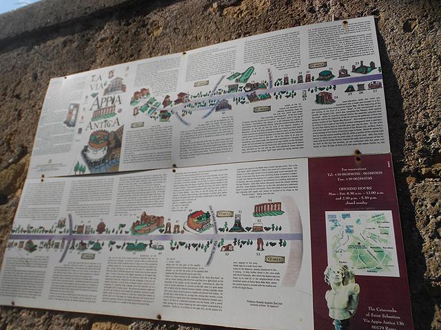 Cartel Via Appia Antica