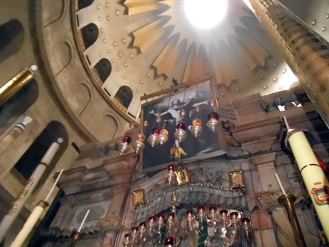 Rotonda o Anástasis / Edículo del Sepulcro lugar donde se encontraba la Tumba de Jesucristo