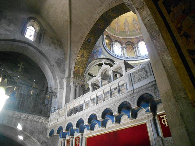 Parte del Catholicon en la Basílica Santo Sepulcro