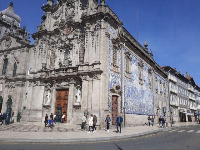 Beautiful church in Porto in Portugal
