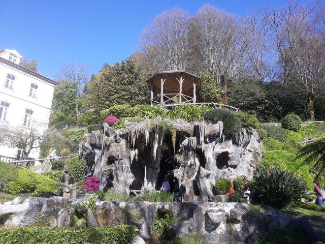 The lush gardens of the Bom Jesus do Monte sanctuary in Portugal
