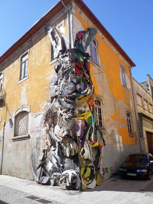 Rabbit art installation in Porto in Portugal