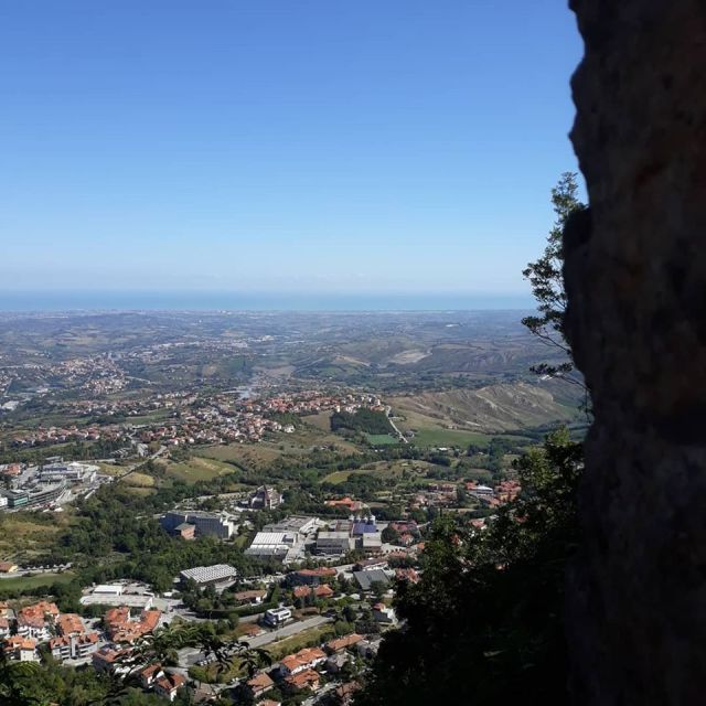 The spectacular view from San Marino