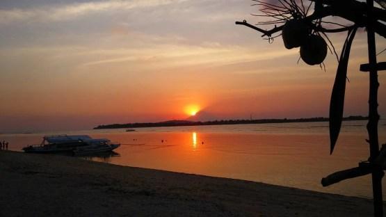bali one month itinerary gili air sunset