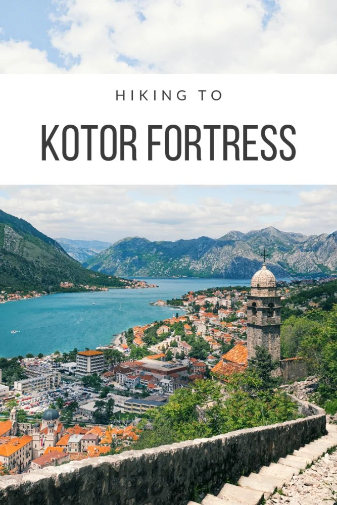 Hiking to Kotor Fortress - Everything You Need to Know.   Hiking up to Kotor Fortress is definitely one of the main things to do in Kotor, and it's no surprise - this magnificent view over the red roofed houses of Kotor's Old Town and the fjord-like bay nestled in the mountains is something you can't miss if you visit Kotor.  In fact, it's probably the most photographed spot in all of Montenegro - and it's no wonder! - but what the Instagram posts don't tell you is how to get there! #balkans