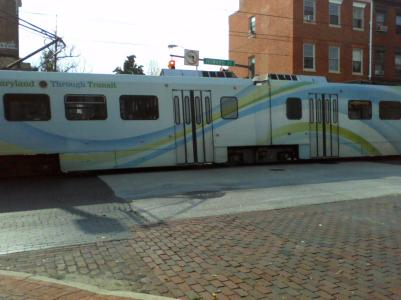 The Baltimore light rail will get you around town and even out to the Baltimore  Thurgood Marshall  Airport, known as BWI.
