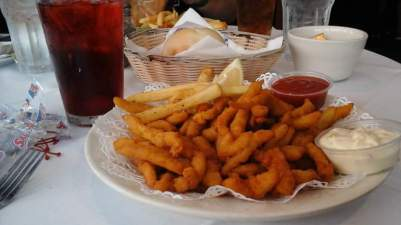 Gotta have some seafood in Baltimore. Clam Strips and Fries from Moe's in Little Italy.