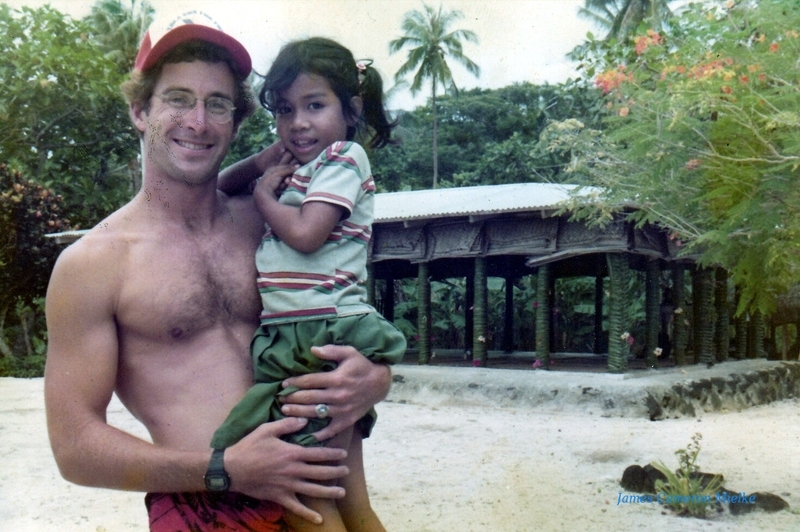 Jim and Manono in Apai village (1984)