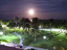 Moon rise over Miami Beach