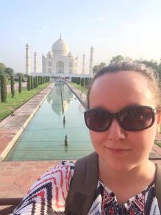 selfie with the Taj Mahal