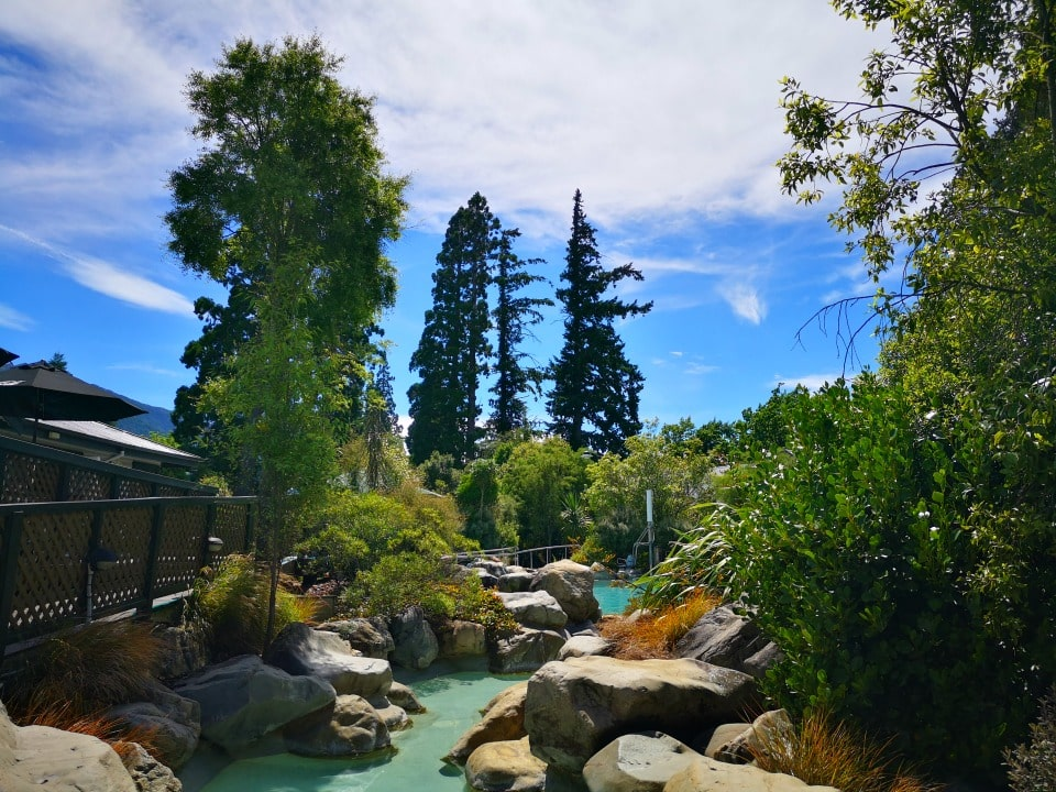 inside the grounds of hammer springs thermal spa