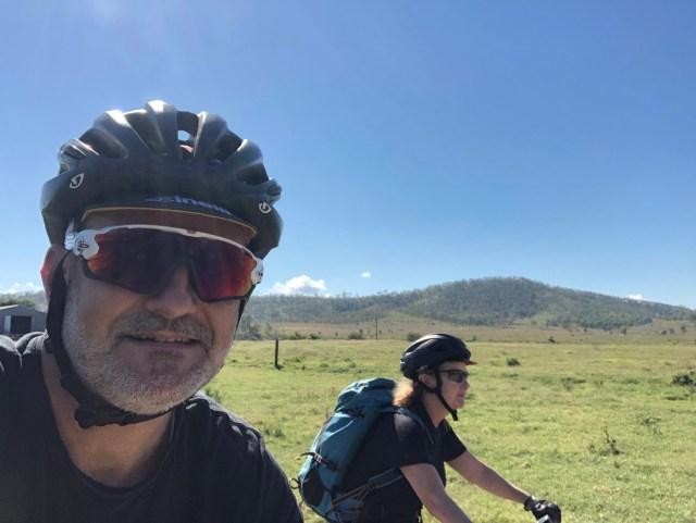 Mountain biking on an e-bike