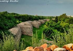 Walls of Qila Rai Pithora