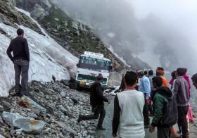 The Sach Pass Shramdaan and hitchhiking on an ambulance