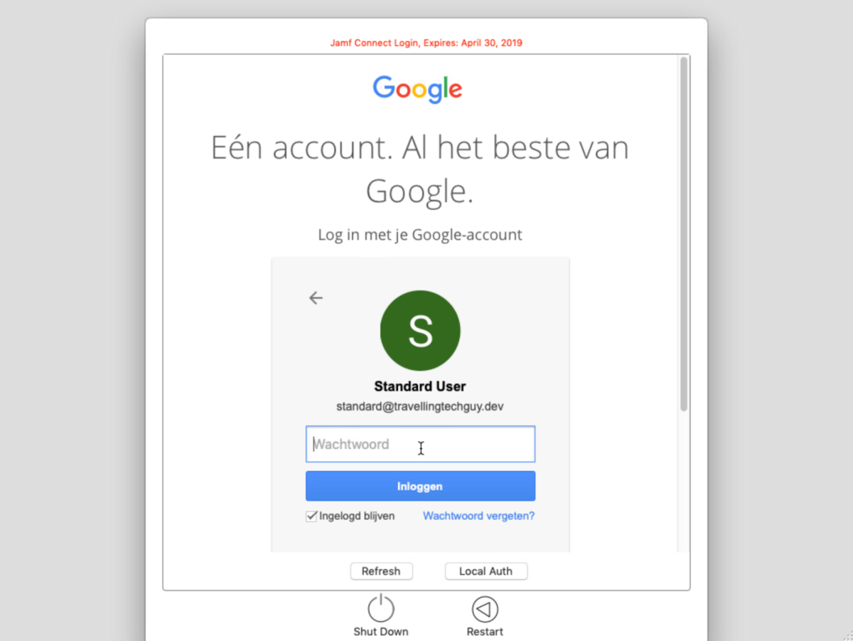 Jamf Connect Login and Google Cloud Identity
