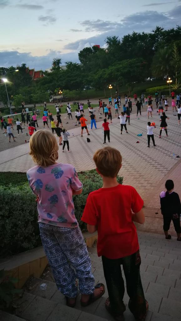 Sporten Vientiane aanrader met kinderen