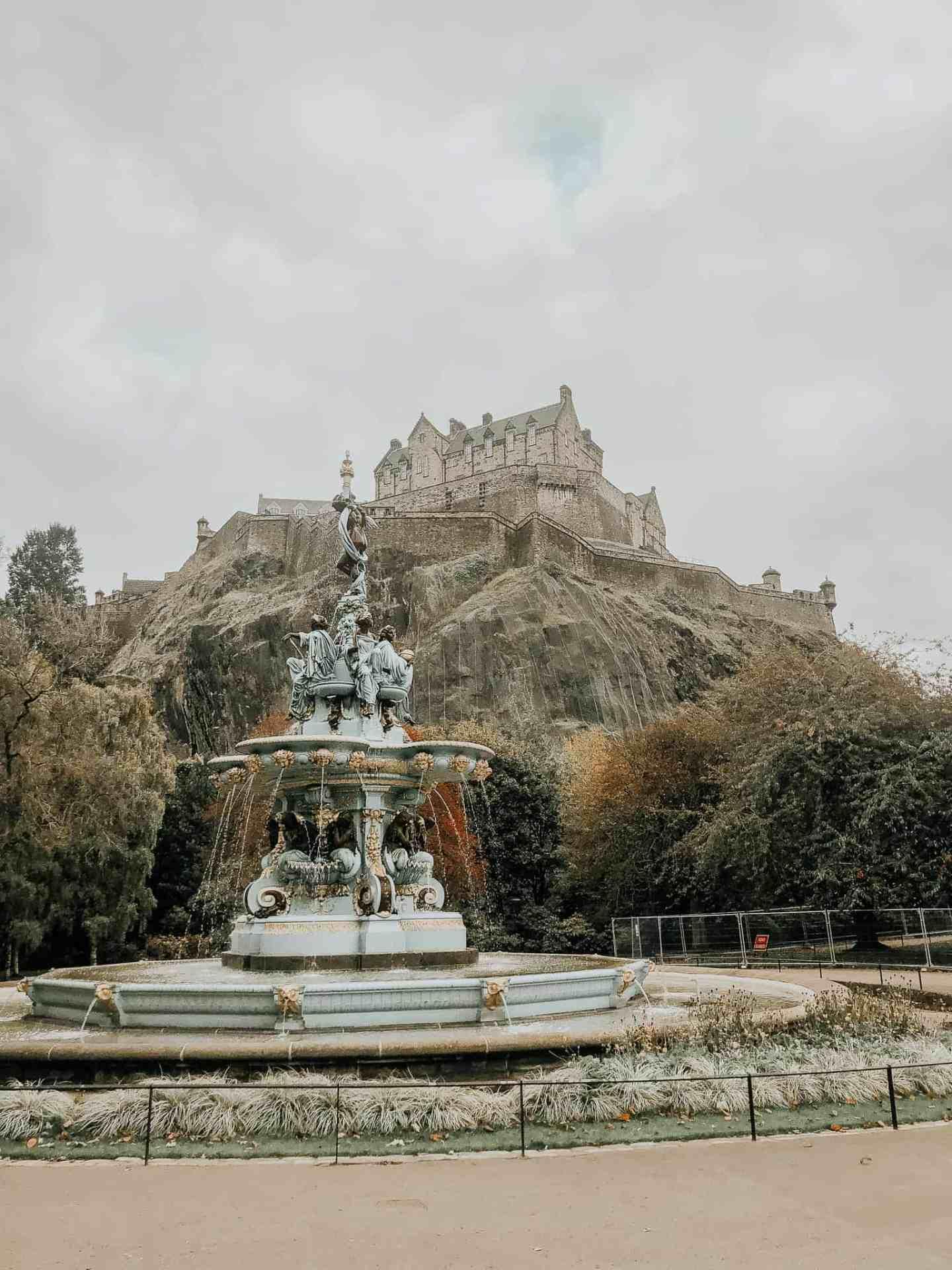 A stop on the Edinburgh free walking tour