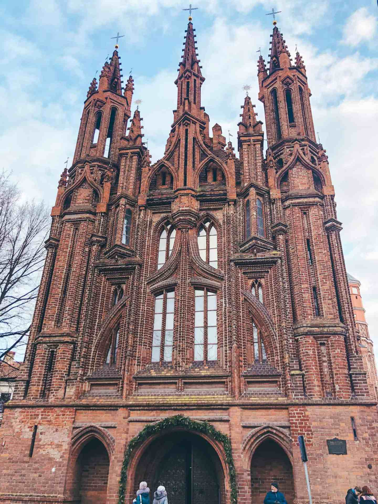 A big red brick church