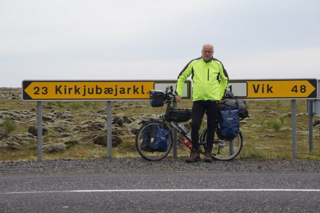 Dick Edie spent 5 weeks cycling around Iceland.