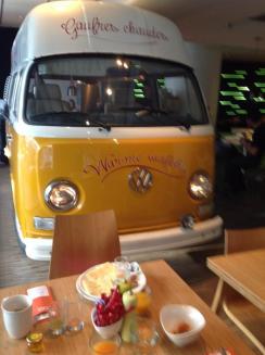 Breakfast next to the waffles van at Bloom!
