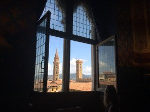 View from the window of the Palazzo Vecchio
