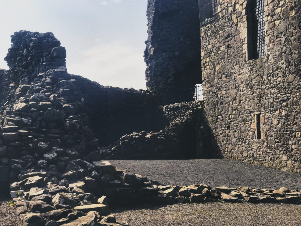 The outdoor ruins of Dundonald castle
