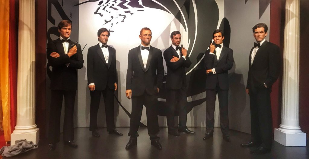 James Bond wax figures at Madame Tussauds Blackpool