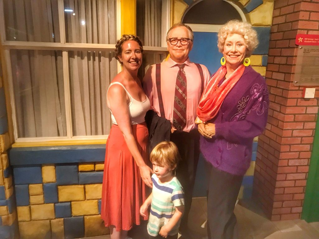 "Nicola, Dexter and ""Jack and Vera Duckworth"" Madame Tussauds Blackpool"